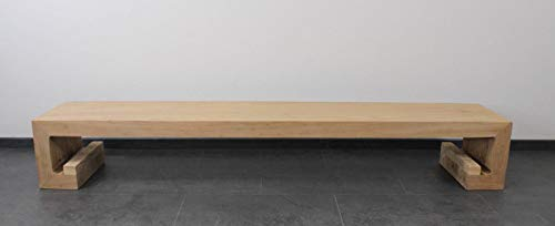 Asien Lifestyle Chinesisches Lowboard Ulmen Holz 210cm China Sideboard Möbel