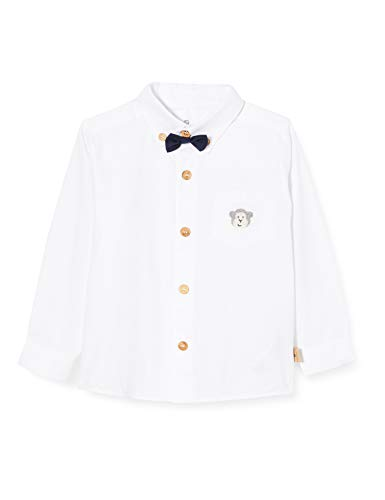 Bellybutton mother nature & me Hemd 1/1 Arm Camisa, Blanco (Bright White|White 1000), 80 cm para Bebés
