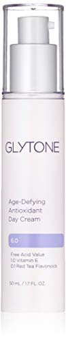 Glytone Age-Defying Antioxidant Day Cream with 1% Vitamin E, 6.0 PFAV Glycolic Acid & Hyaluronic Acid to Hydrate, Renew and Reduce Signs of Aging, 1.7 oz.