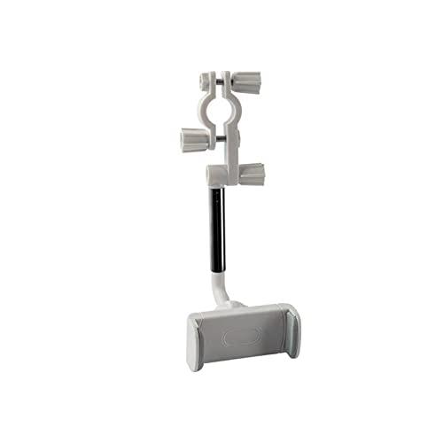 ZPFQFC Tenedor de teléfono retrovisor de 360 °, Soporte para teléfono de automóviles Universal, Soporte de teléfono Soporte de navegación Telescópico Ajustable móvil para el teléfono Celular GPS