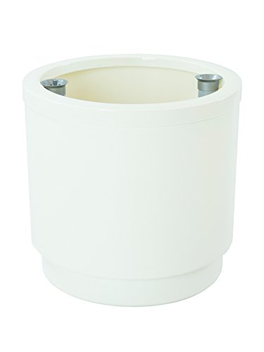 Plastiken 4138 Hidrojardinera, Blanco, 38x38x36 cm
