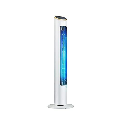 Ventilador de torre de enfriamiento CHY con viento cómodo y suave, ventilador de piso portátil saludable, temporizador de 15 horas, 3 velocidades de ventilador de refrigeración, control remoto, 40 W