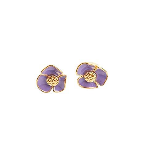 YFZCLYZAXET Pendientes Mujer Pendientes Casuales De Moda Joyería Temperamento Pendientes Simples Pendientes De Lujo Ligeros Pendientes Clásicos Simples-Púrpura