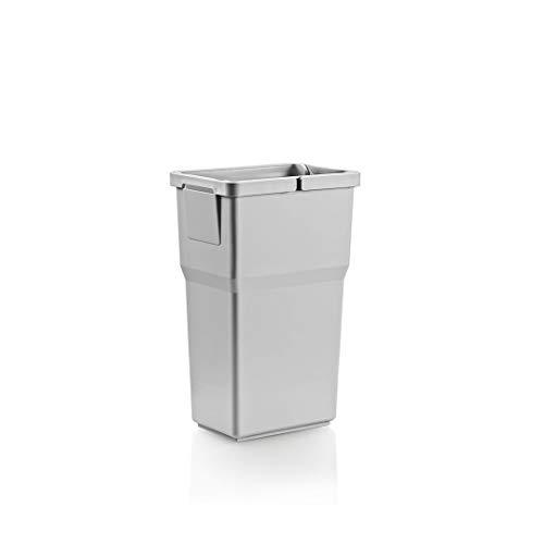 RONIN Furniture Fittings® ELCO CASE Select Abfallbehälter Abfallsammler, Mülleimer 8 Liter H=350 / B=160 / T=220 mm, in 2 Farben erhältlich (LICHTGRAU)