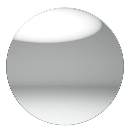 Blue Diamond - Tablero de Vidrio para Mesa Redonda - 400 mm - Grosor de 8 mm - Elaborada con Vidrio Templado - Tablero de Vidrio Transparente - Fabricado en España
