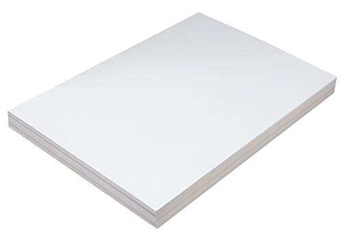 "Pacon PAC5214 Tagboard, Heavyweight, 12"" x 18"", White, 100 Sheets"