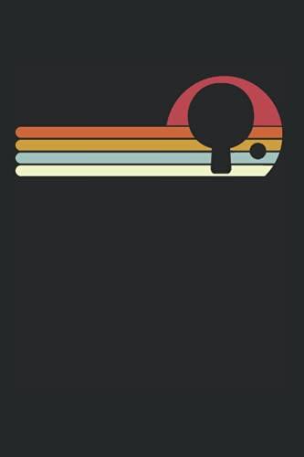 Sonnenuntergang Tischtennis: DIN A5 Liniert 120 Seiten / 60 Blätter Notizbuch Notizheft Notiz-Block Lustige Lustige Geschenkideen für Tischtennisspieler