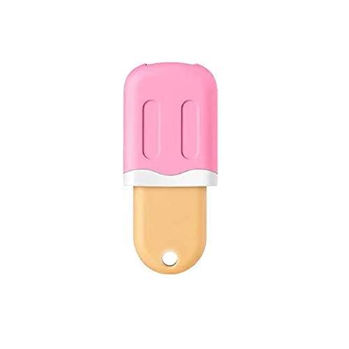 LOVEYORL Memoria USB 2.0, 1 Pieza PenDrives Forma de Helado Pen Drive Unidad Flash, PenDrive para Memory Stick de expansión Compatible con Micro/Type-C/USB (16GB,Rosa)