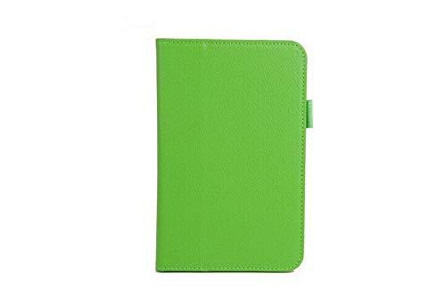 HHF Pad Accesorios para la lengüeta 3 Lite T110 T111 tabletas Libros Caso + Pluma del Soporte del tirón de la PU de la Cubierta de Libro de Cuero para la lengüeta 3 Lite (Color : Verde)