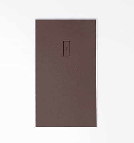 Plato de ducha de RESINA Evolution, textura pizarra extrapalnao 3cm, todas las medidas disponibles, diseño exclusivo, 15 colores, incluye válvula de desagüe de gran caudal
