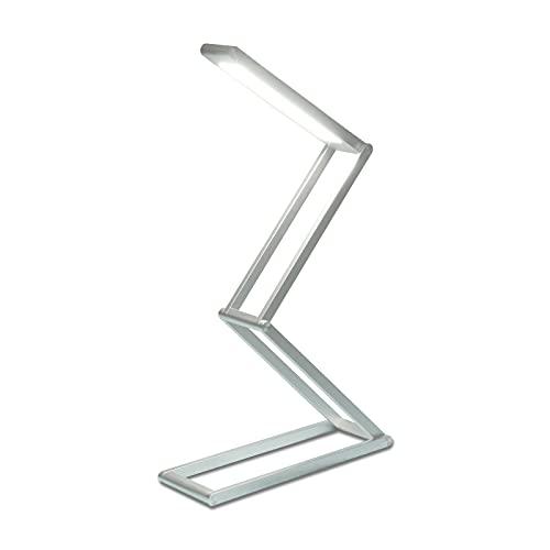 KRX LED Desk Lamp, Small Anti Blue Light Reading Desk Light for Home Office, Eye-Caring Aluminium Alloy Table Lamps, Adjustable Brightness, Foldable & Portable, Energy & Space Saving