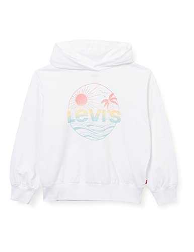 Levi's Kids LVG Oversized Hoodie C731 Hooded Sweatshirt, White, 12 ans Girls