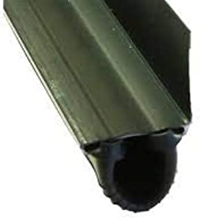 Durable Rubber Garage Door Bottom Seal with Aluminum Retainer T Style All Sizes - Length: 18 Foot - Retainer: 1 3/4`
