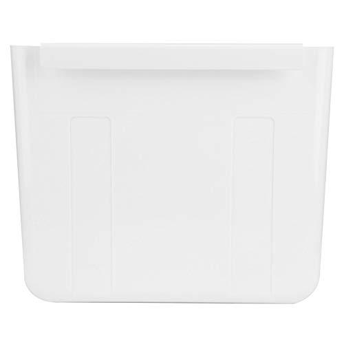Qioniky Cubo de Basura, Cubo de Basura Medio doblado y Completamente desplegado, baños para Colgar en la Pared, automóvil para Puerta, Armario, cocinas con gabinete, Basura para almacenar en