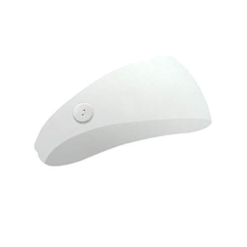 Cinta para la cabeza con botón para enfermeras, banda elástica para el pelo, accesorio deportivo para el día a día, yoga, deporte, fitness, blanco, talla única
