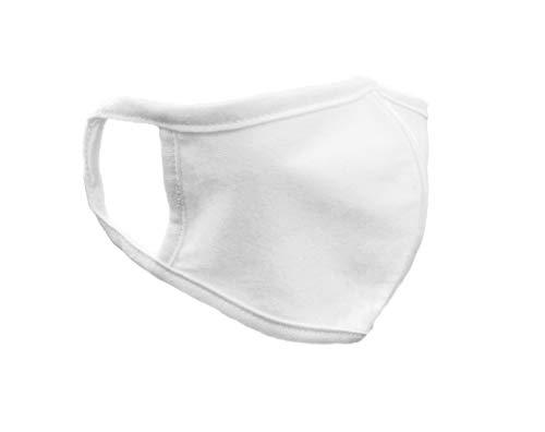 FM London wiederverwendbare Stoffmaske, Weiß, Einheitsgröße (10 Stück)