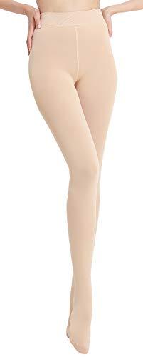 FEOYA Damen Strumpfhosen mit Innenfleece Winter Blickdicht Warm Leggings