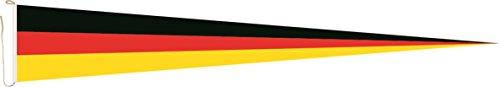 U24 Langwimpel Deutschland Fahne Flagge Wimpel 150 x 40 cm Premiumqualität
