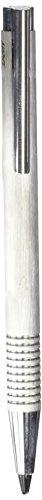 LAMY logo Druckbleistift 106 – Bleistift aus rostfreiem Edelstahl, strichmattiert in der Farbe Brushed mit integrierter Clip-Drücker-Einheit – mit 0,7mm Feinstrichmine (LAMY M 40)