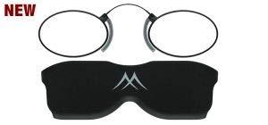 Reading Glasses Matt Black Stainless Steel Nose Reader-Strength +3.00