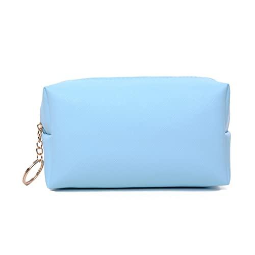 enioysun Neceser Bolso de Almacenamiento cosmético para Mujer, Bolso de Almacenamiento de Aseo de Viaje portátil de Cuero, Bolsa de Almacenamiento con Cremallera (Color : Blue, Size : 1)