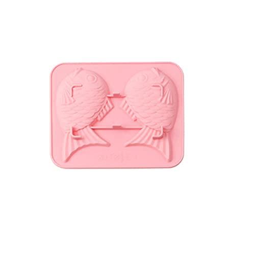 3D Bonbonformen aus Silikon Fischform, DIY Kuchen Backform Handgemachte Schokoladenform für DIY Tischdekoration Hochzeit, Kinder Geschenke Eisformen, Hitzebeständig BPA-frei (B)