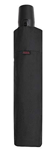 Paraguas Vogue Plegable Abre Cierra automático y 8 Varillas de Acero y Fibra de Vidrio. Es antiviento y Acabado Teflón. (Negro)