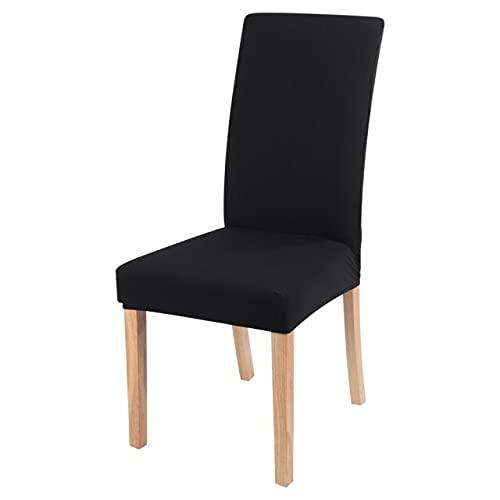 Il robusto e moderno coprisedia elastico per sedia scorrevole è adatto per cucina, ristorante, banchetto, hotel, matrimonio 2 pezzi nero