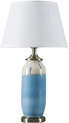 XFXDBT Lampe de Chevet Lampe en céramique Chambre à Coucher Lampe de Chevet Séjour Dimmable Glaze Bleu 46cm * 30cm Lampe de Table Durable (Color : B)