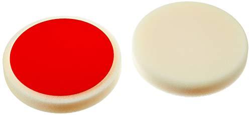 ALCLEAR 5516030H_2 5516030H Schleifpad, Auto Polierschwämme, hart, Durchmesser: 160x30 mm, weiß,2er Set, Polierpad polieren Pad Schwamm Polierschaum f. Poliermaschine