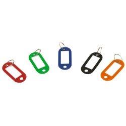 COOLCASE Plastica Chiave ID Etichetta Bagagli ID Etichette etichette Anello Apribile Portachiavi - 100 pezzi
