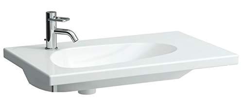 Laufen Palomba Waschtisch unterbaufähig, asymmetrisch, ohne Hahnloch, mit Überlauf, 800x500, Farbe: Weiß mit LCC