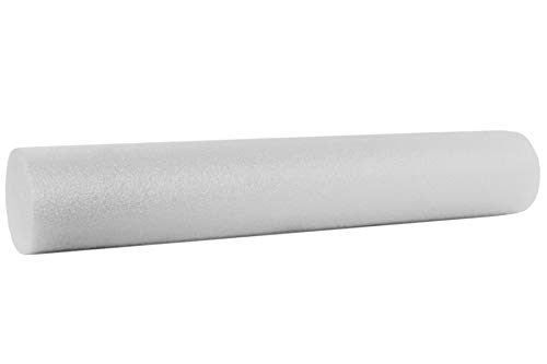 "ProsourceFit Flex Foam Rollers 36"" for Muscle Massage, Physical Therapy, Core & Balance Exercises Stabilization, Pilates, White"
