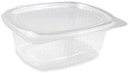 VIRSUS 50 Vaschette ovali in Pet vaschette Trasparenti 750cc con Coperchio Unito. Contenitori con Chiusura ermetica