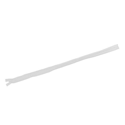 Fanuse 6pcs/Lot Cremallera Invisible CojíN Trasero Falda Nylon Oculto Cremallera para Coser/Accesorios De Ropa Bricolaje (Blanco) Largo 60 Cm Modelo 3#