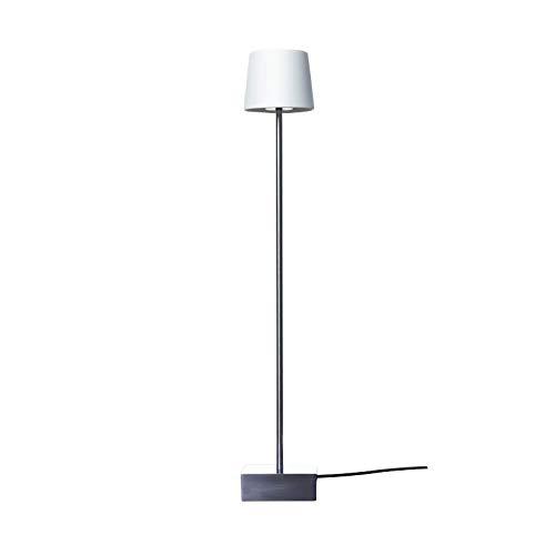 Anta Cut TL Tischleuchte, weiß Porzellan Kabel transparent mit Touch-Dimmer