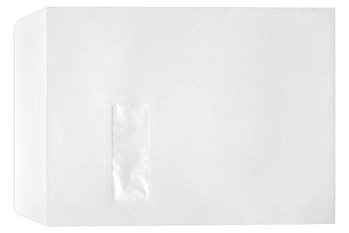 9 x 12 Open-End Window Envelopes in 28 lb. Bright White for Mailing a Business Letter, Catalog, Financial Document, Magazine, Pamphlet, 50 Pack (White)