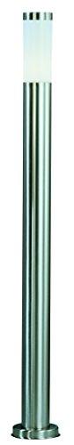 Globo Außenleuchte Sockel Edelstahl opal exklusiv 1 x 60 W, E27 Illu/Kerze, 220 V, H: 110 cm ø 13 cm bzw, 7.6 cm 3159