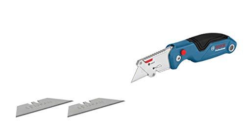 Bosch Professional Universal Klappmesser mit Klingenfach im Metall-Griff (inkl. 2 Ersatzklingen, in Blister)