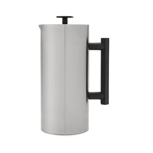 ESPRO P6 Double Walled Stainless Steel Coffee French Press, 32 Ounce, Brushed Stainless Steel