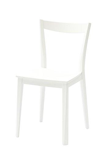 White loft, Set Di 2 Sedie, Legno, Bianco, 40x81x37x 45 cm