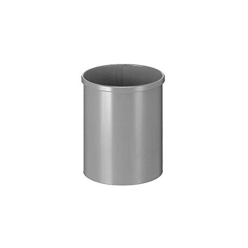 Papierkorb, Metall, rund, Inhalt 15 l, Höhe 309 mm, Aluminium - Papierkörbe Abfalltrennsysteme Sicherheitspapierkörbe Universalmüllsammler Papierkörbeysteme Sicherheitspapierkörbe Universalmüllsammler Papierkörbeysteme Sicherheitspapierkörbe