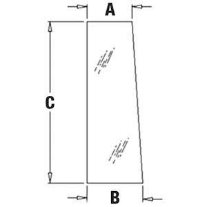 One New Right Hand Rear Side Glass Fits John Deere 310G 310J 310Sg 310Sj 310Tmc 315Sg 410G 410J 410Tmc 710G 710J Models Replaces A-T164706 A-T164706-A T164706 T164706-A