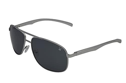 Gamswild WM1322 - Gafas de sol de aviador, estilo gamuza, unisex, color azul, gris y verde, verde gris azul, Talla única