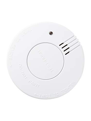 Design Rauchmelder 1Stk. mit Halterung und Batterien, sofort einsatzbereit (Einzeln - Nicht...