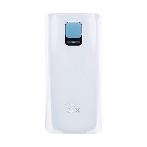 Vvsialeek Copribatteria compatibile per MI Redmi Note 9 Pro M2003J6B2G, colore bianco