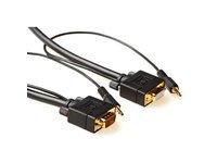 Microconnect 10m, HD15/3.5mm - HD15/3.5mm VGA (D-Sub) + 3.5mm Negro - Adaptadores...