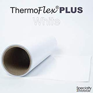 Thermoflex Plus Heat Transfer Vinyl (HTV) Iron-on for Silhouette Cameo, Cricut, (White, 15