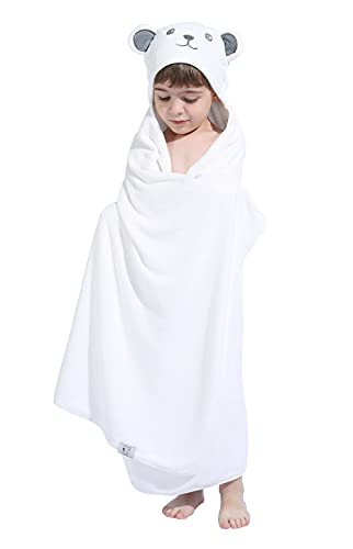 HIPHOP PANDA Bamboo Hooded Towel for Kids - 30 × 50 INCH Large Size for 3-10 Yrs - Premium Bath Kids Towels Wrap for Girls, Boys - Ultra Absorbent and Hypoallergenic