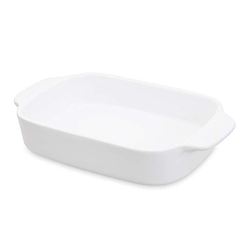 Thicker Rectangular Baking Dish Ceramic Casserole Dish Lasagna Baking Pans with Handle Bakeware Two Person 10 inch 10 X5.8 X1.8